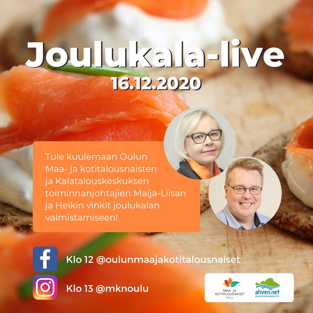 Joulukala-live mainos